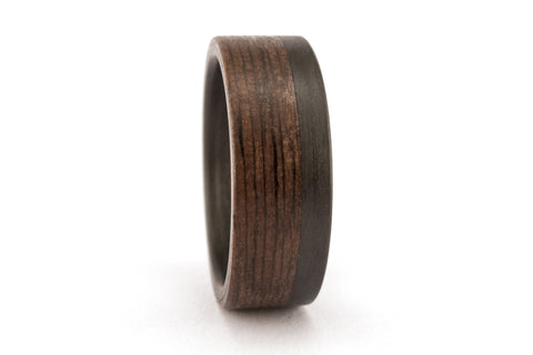 Carbon fiber and wenge bentwood ring (00416_8N)