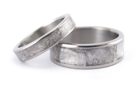 Titanium and mica wedding bands (03233_4N7N)