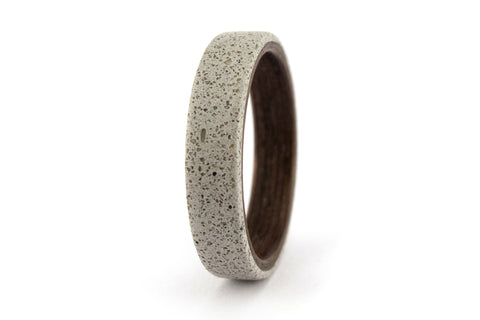 Concrete and bentwood ring (00907_4N)