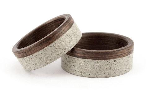 Concrete and bentwood wedding bands (00901_7N8N)
