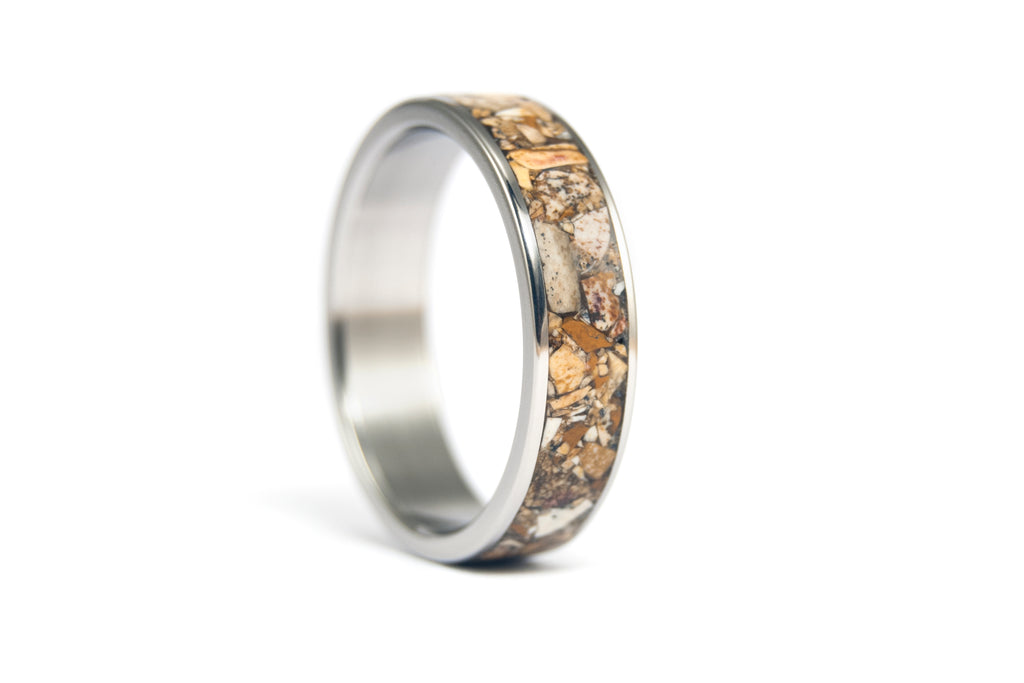 Titanium and jasper ring (03223_7N)