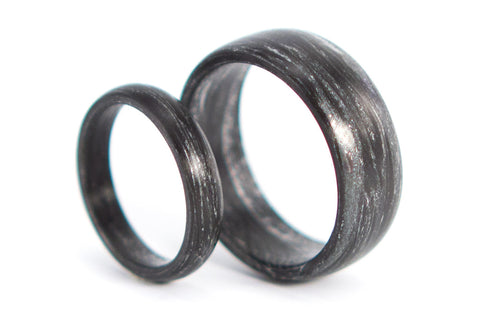 Carbon fiber and silver marbled wedding bands (00102_4N7N)