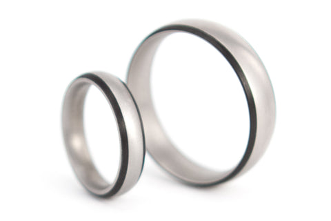 Titanium and carbon fiber wedding bands (00302_4N7N)