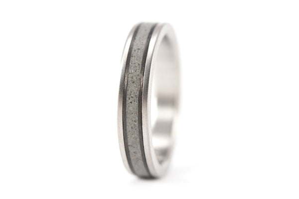 Titanium, concrete and carbon fiber wedding bands (00800_4N7N)