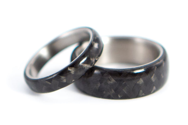 Titanium and carbon fiber wedding bands (00311_4N7N)