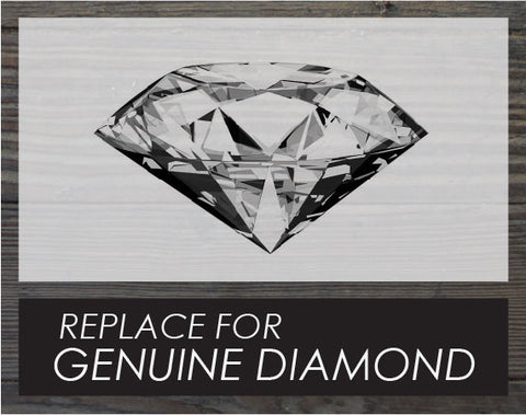 Upgrade. Replace for a genuine diamond.