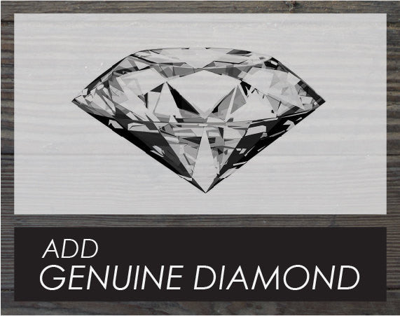Upgrade. Add a genuine diamond.