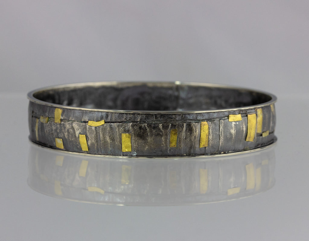 Fused Texture Bangle with Rims