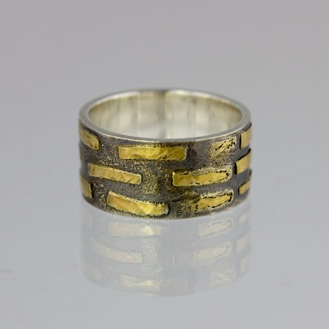 Brickwork Band Ring