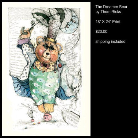 The Dreamer Bear - The Gallery at Gruene Lake Village