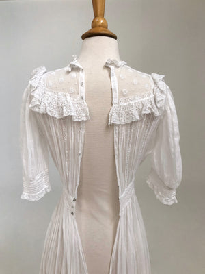Victorian White Cotton Dress
