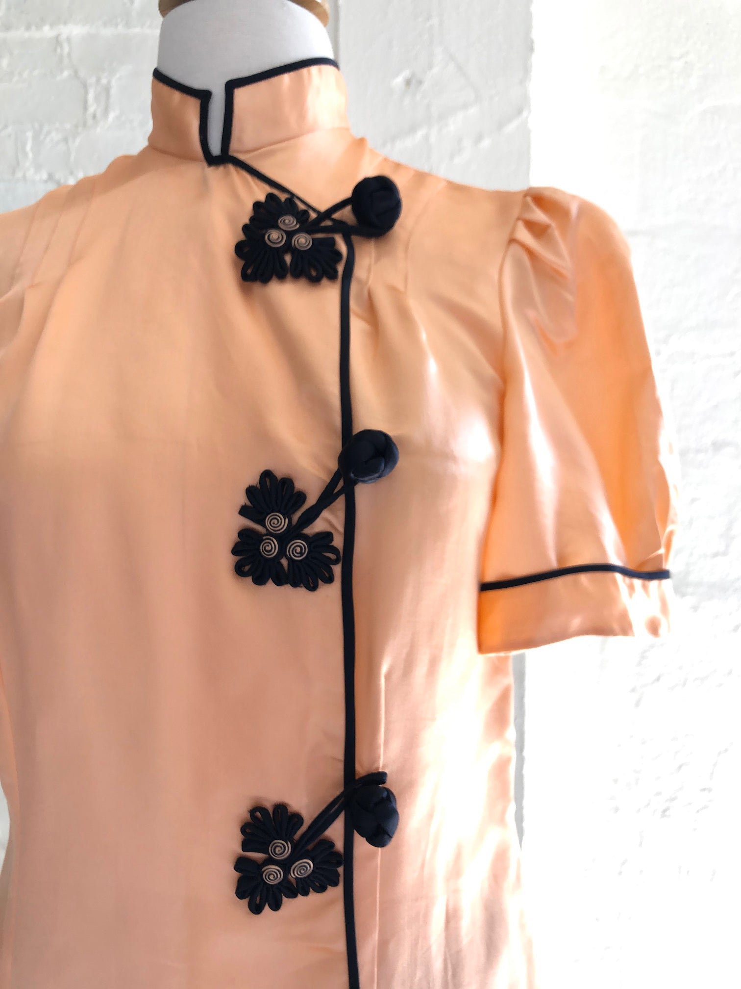 1940's Peach Pink & Black Lounge Set