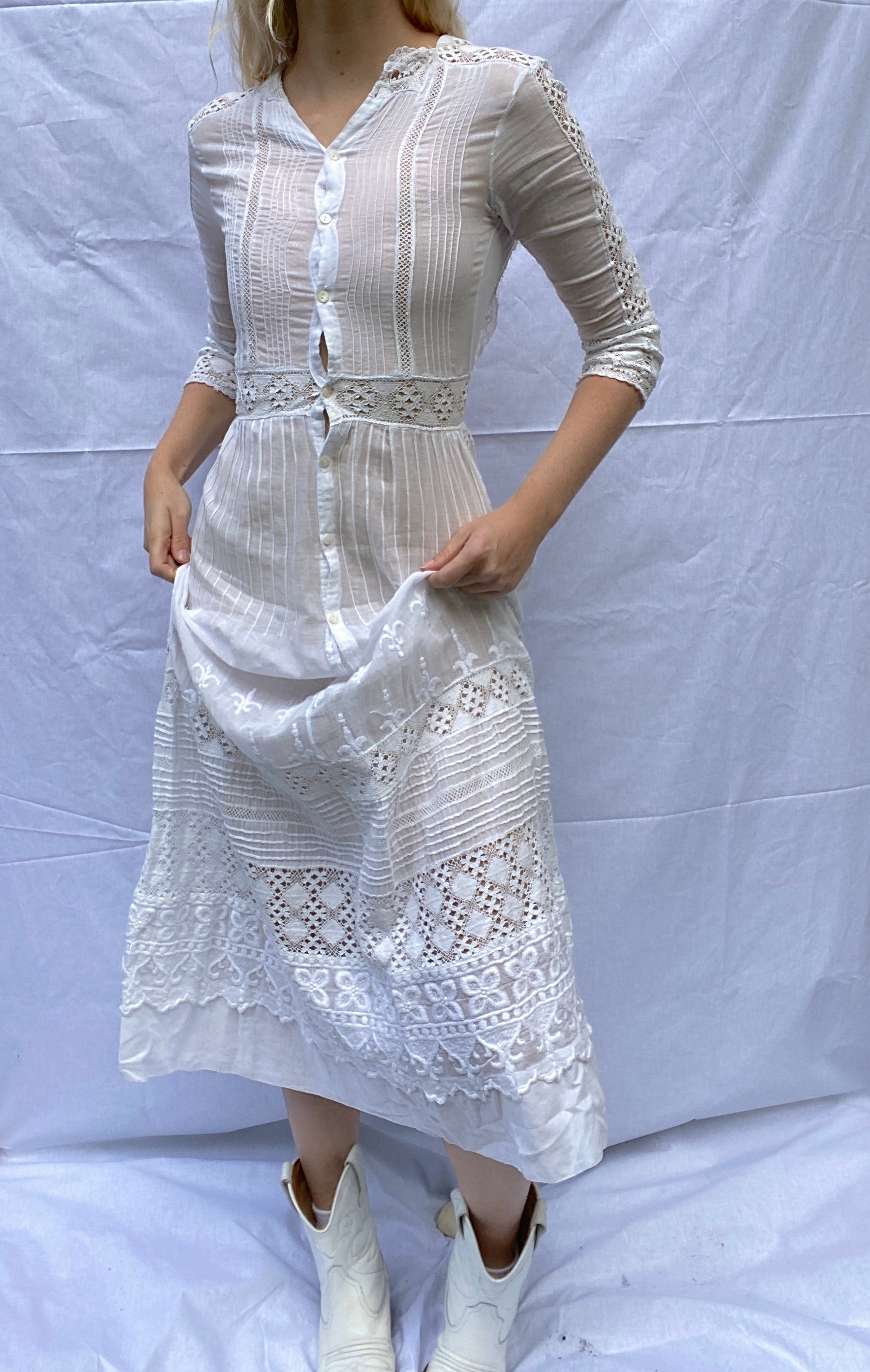 White Victorian Tea Dress