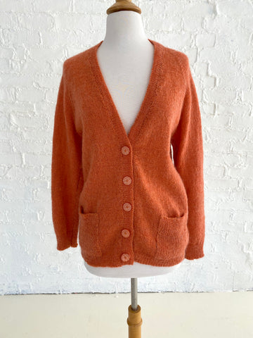 Burnt Orange Knit Cardigan