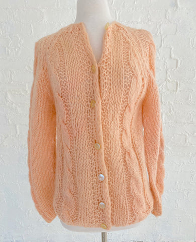 Light Pink Knit Cardigan