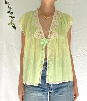 1920's Lime Green Top