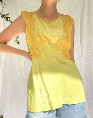 Hand Dyed Mustard Yellow Top
