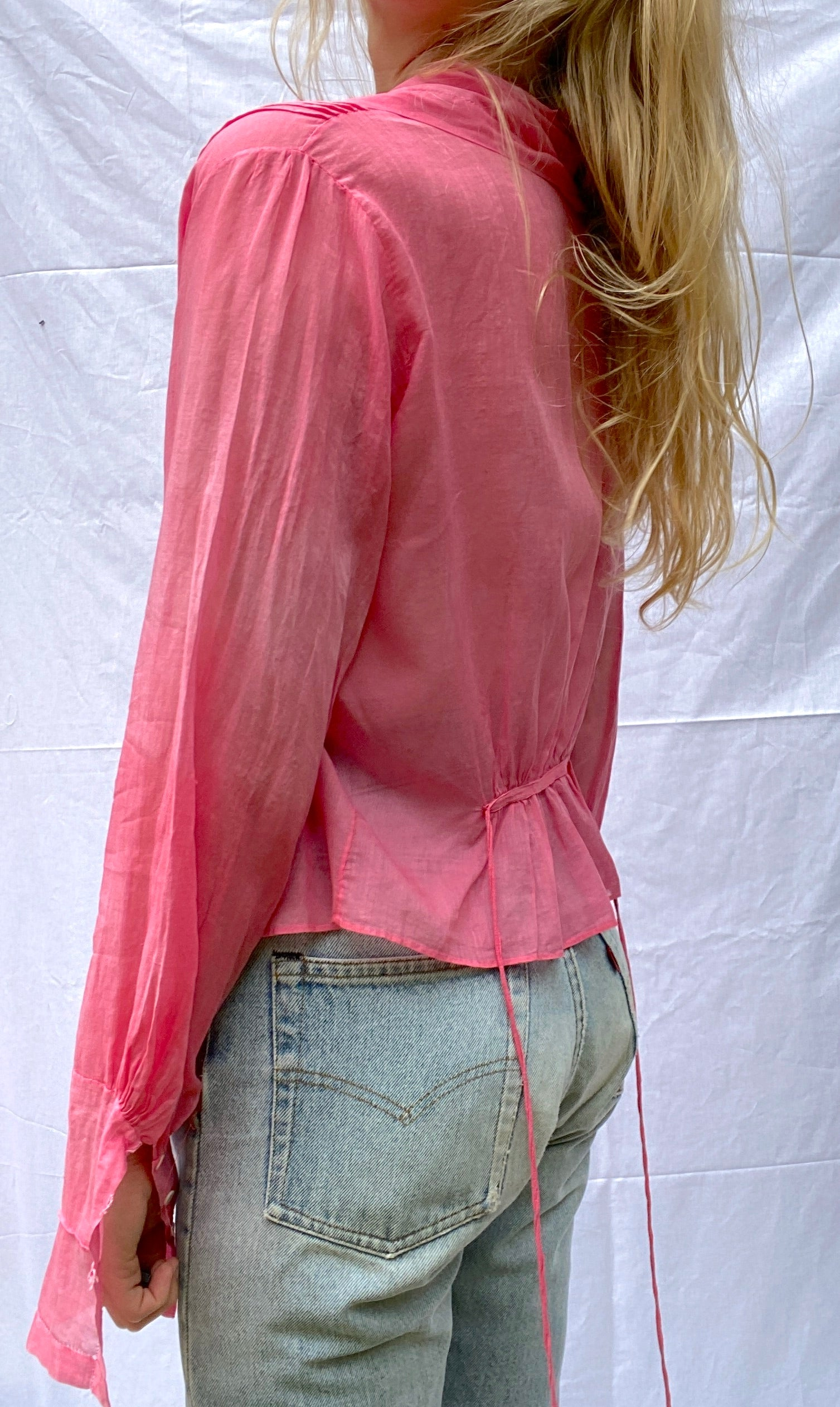 Hand Dyed Cotton Voile Victorian Blouse