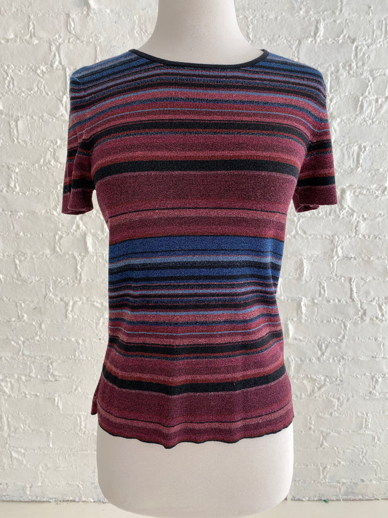 Multicolor Striped Knit Top