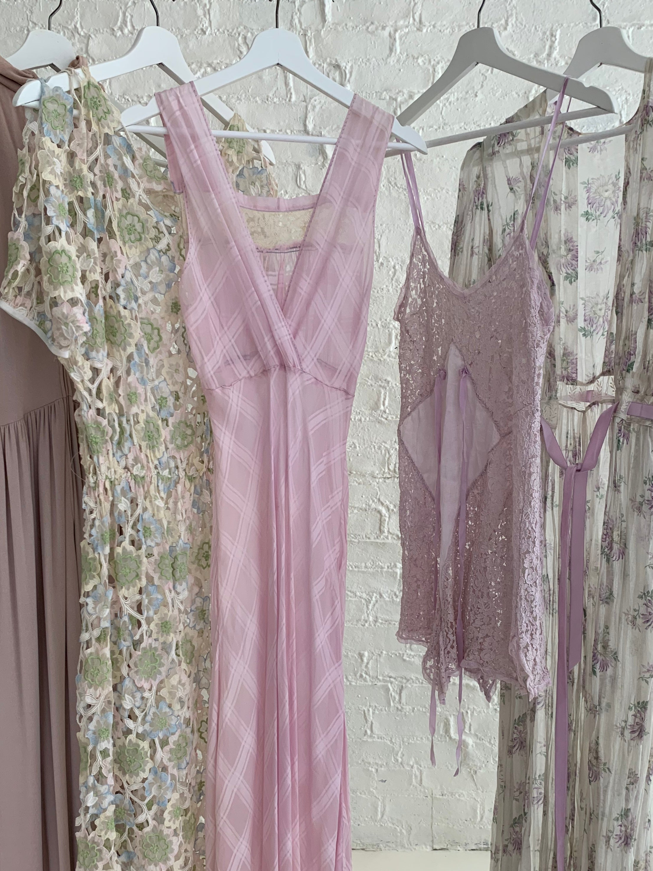 Lavender Lace and Silk Playsuit