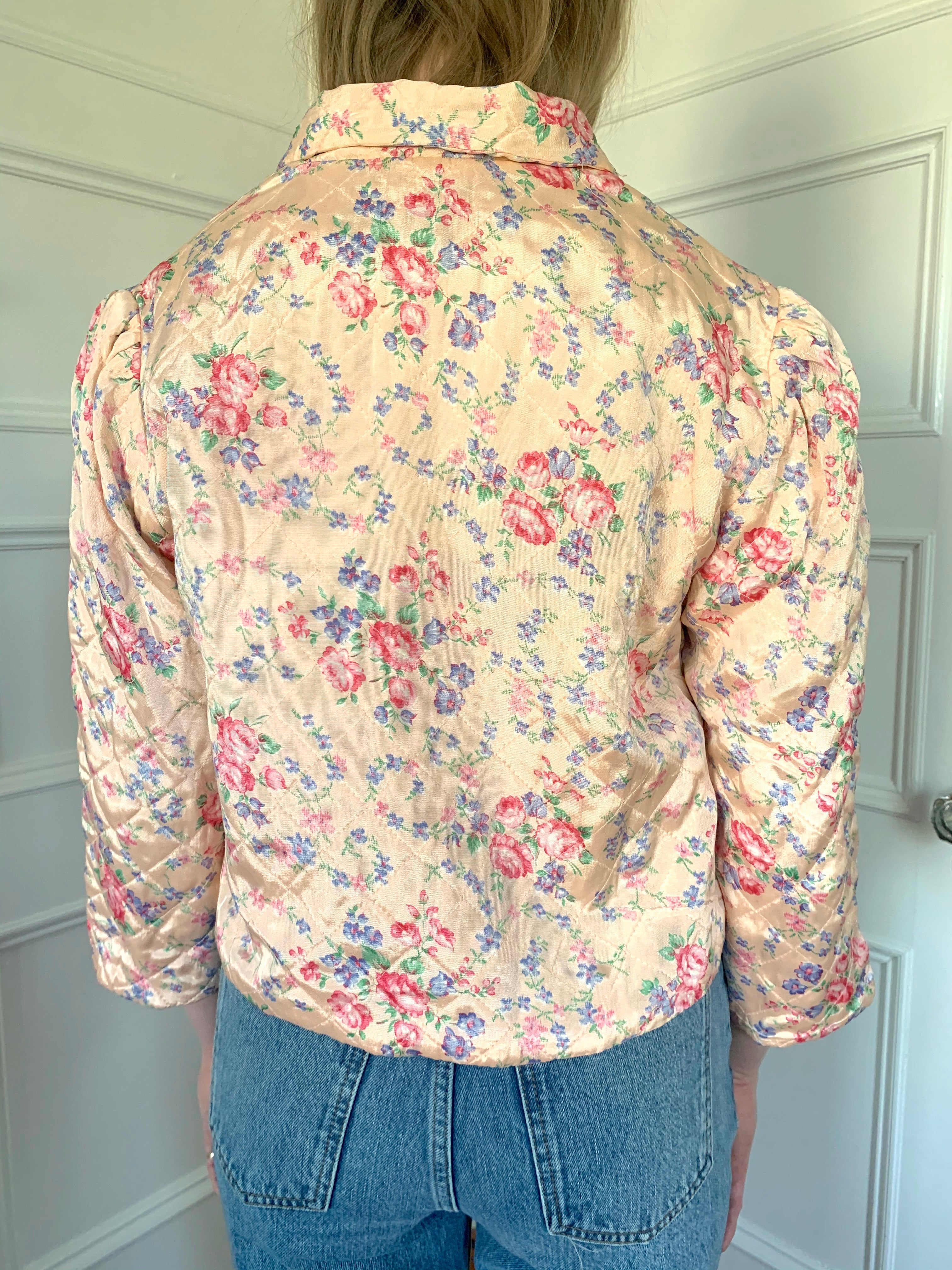 Pink Floral Quilted Jacket