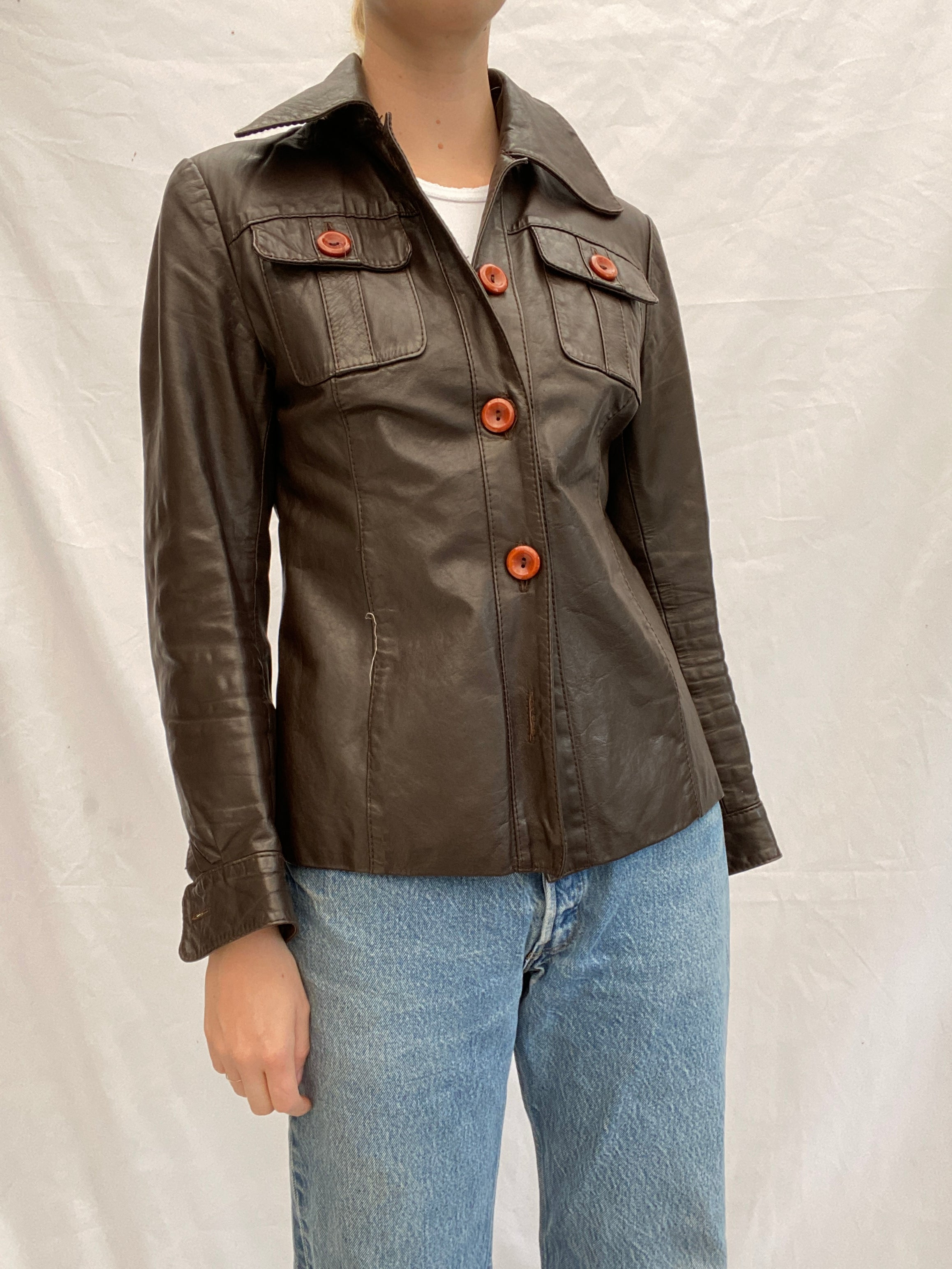 Brown 70's Leather Jacket