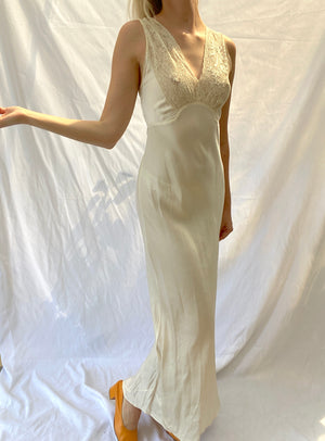 Cream Silk Slip
