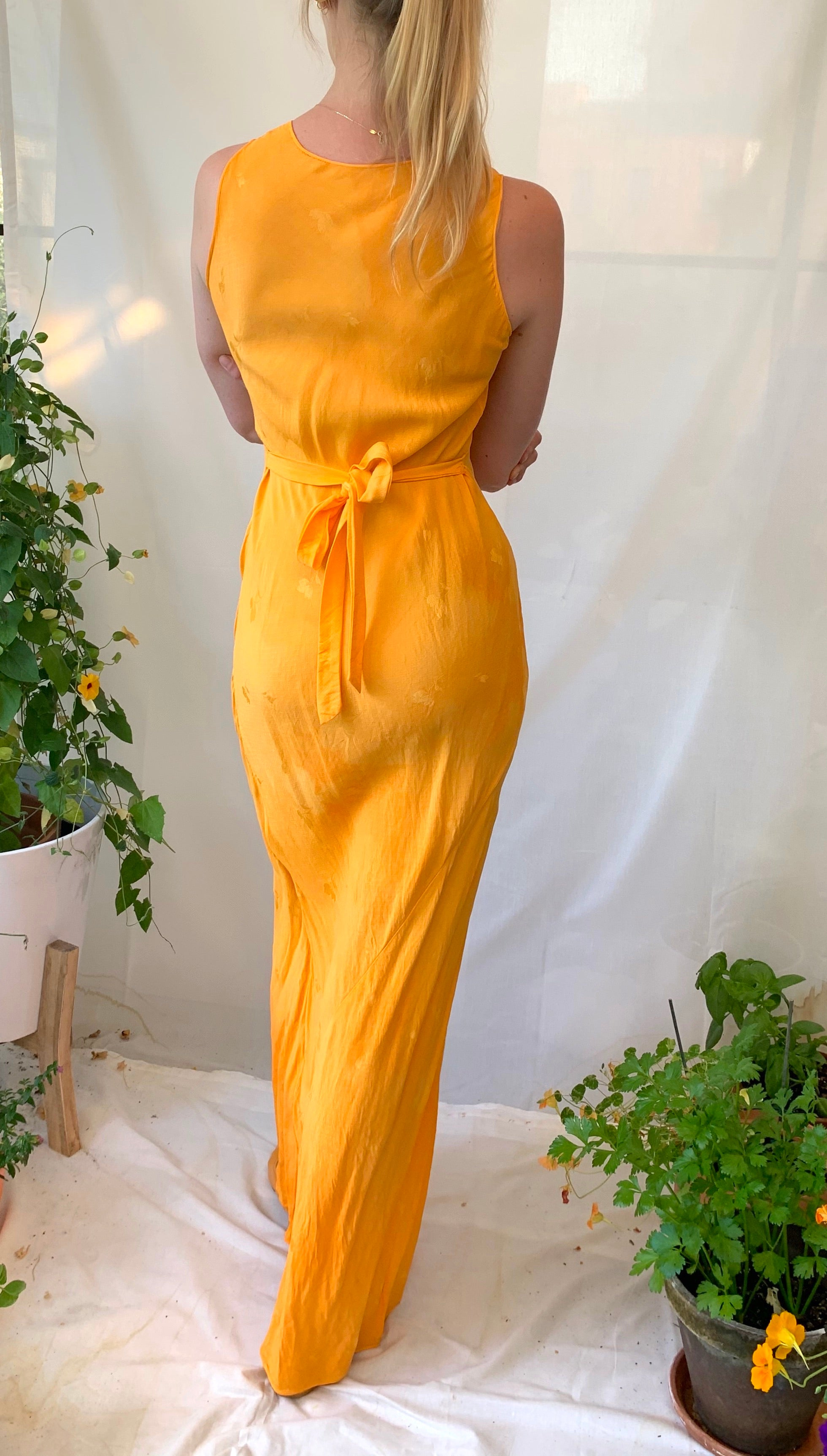 Hand Dyed Orange Dress