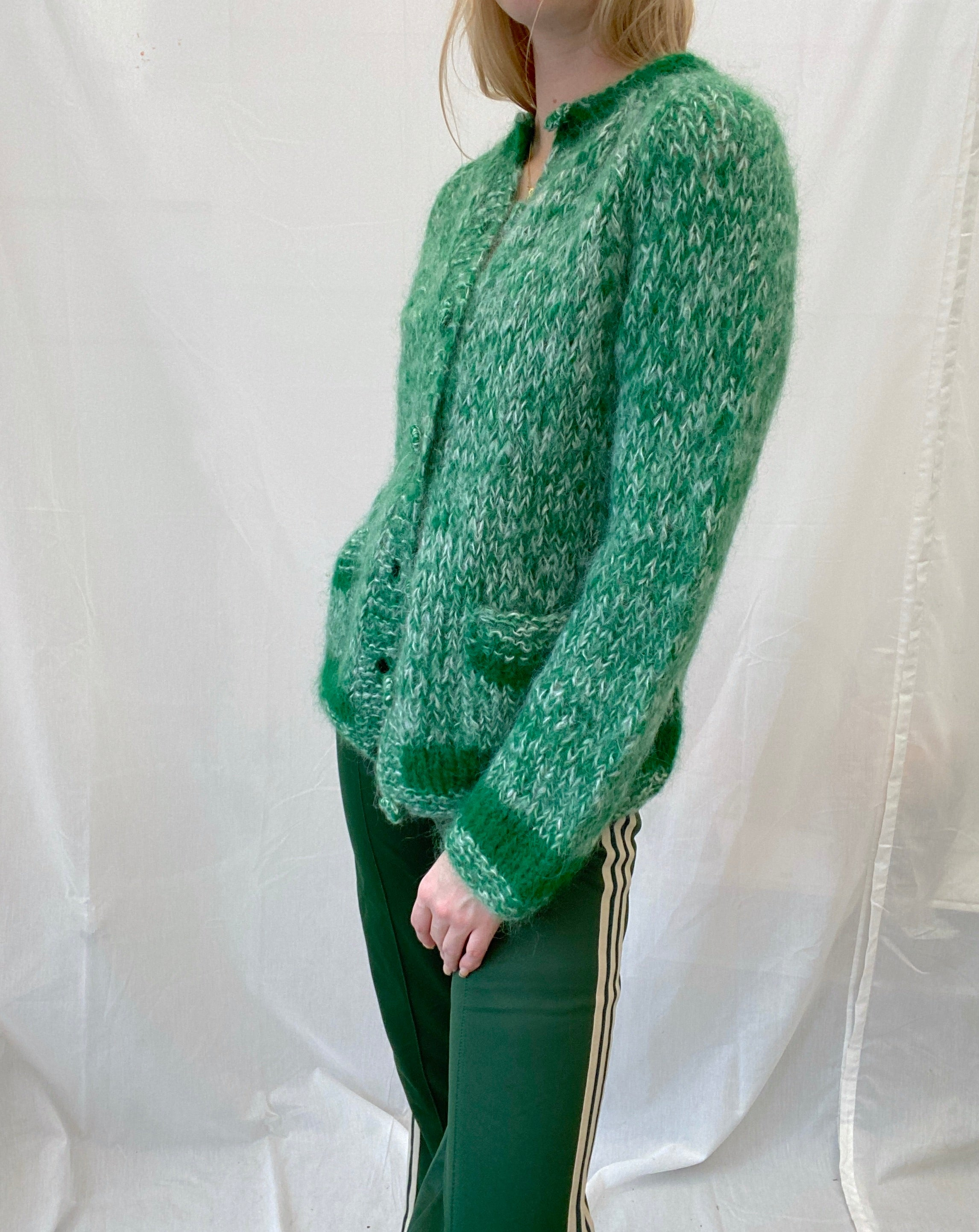 Green Mohair Cardigan