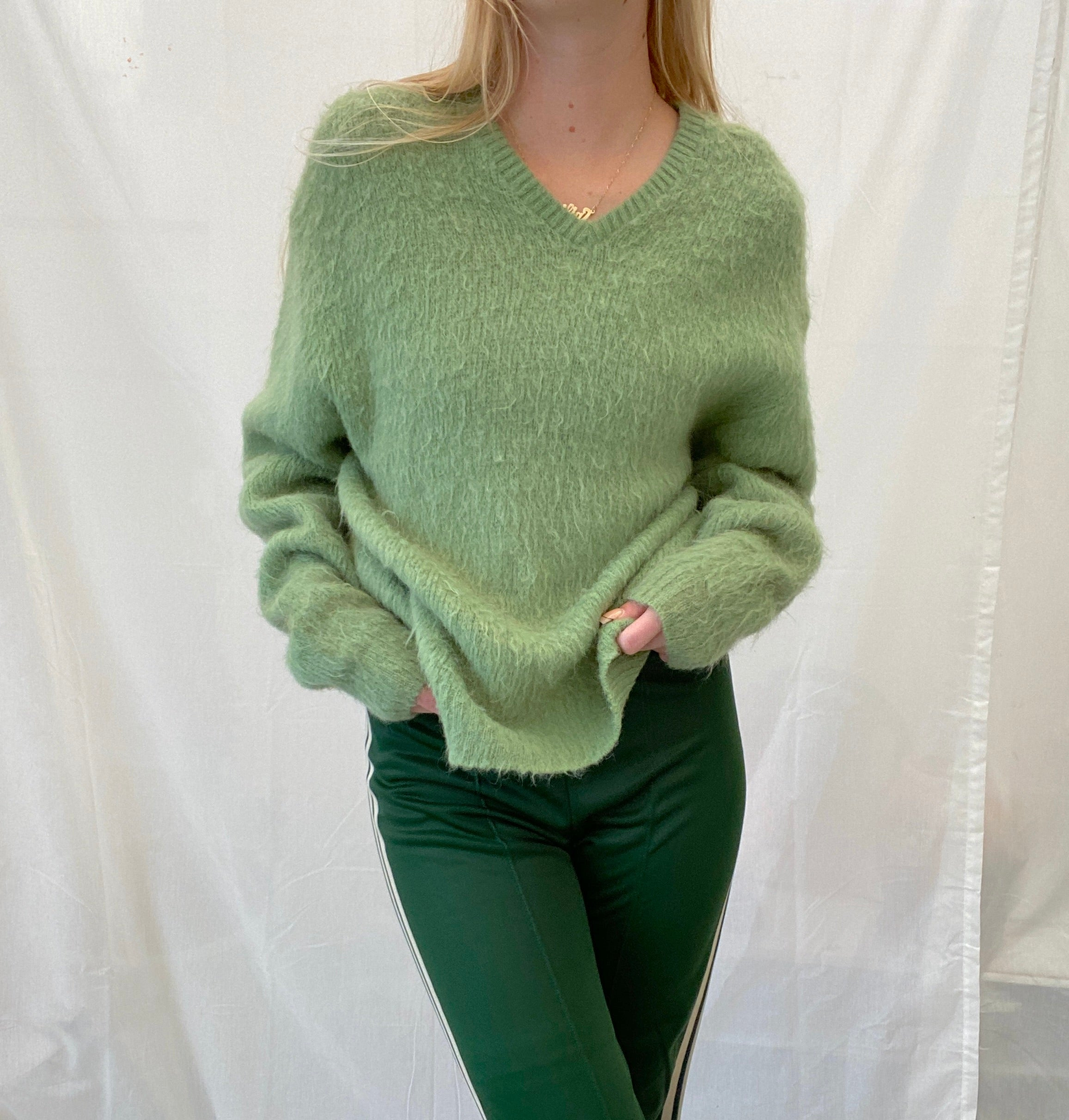 Light Green Wool Sweater