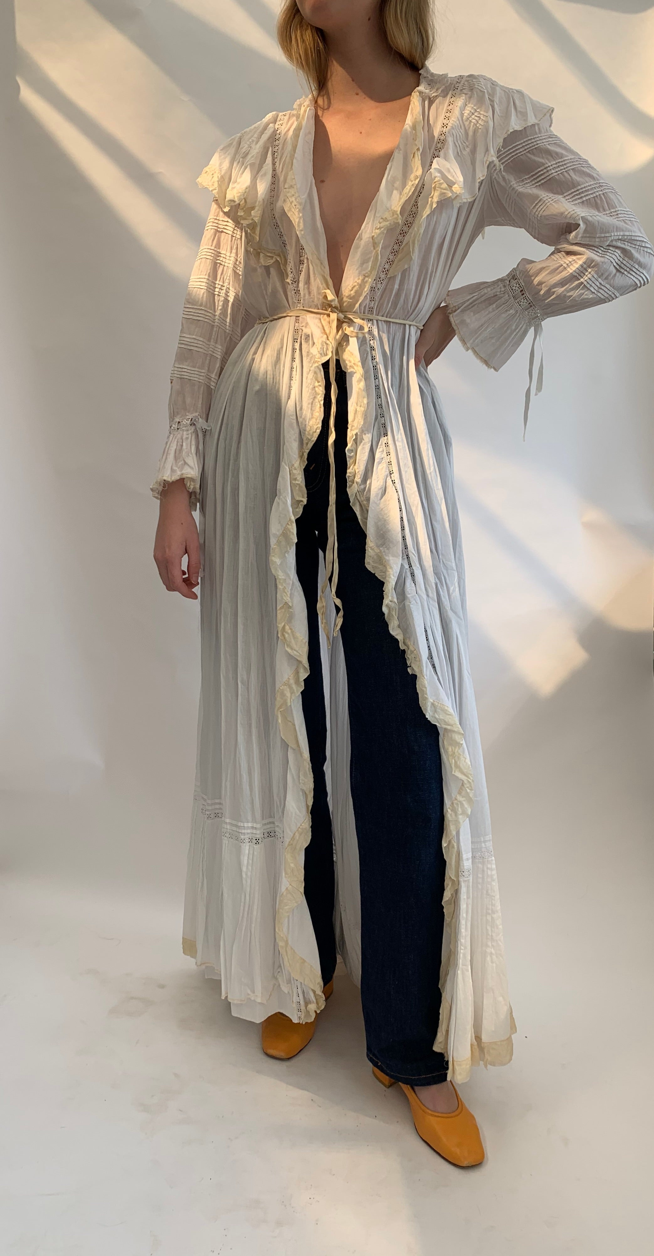 Victorian White Cotton Robe
