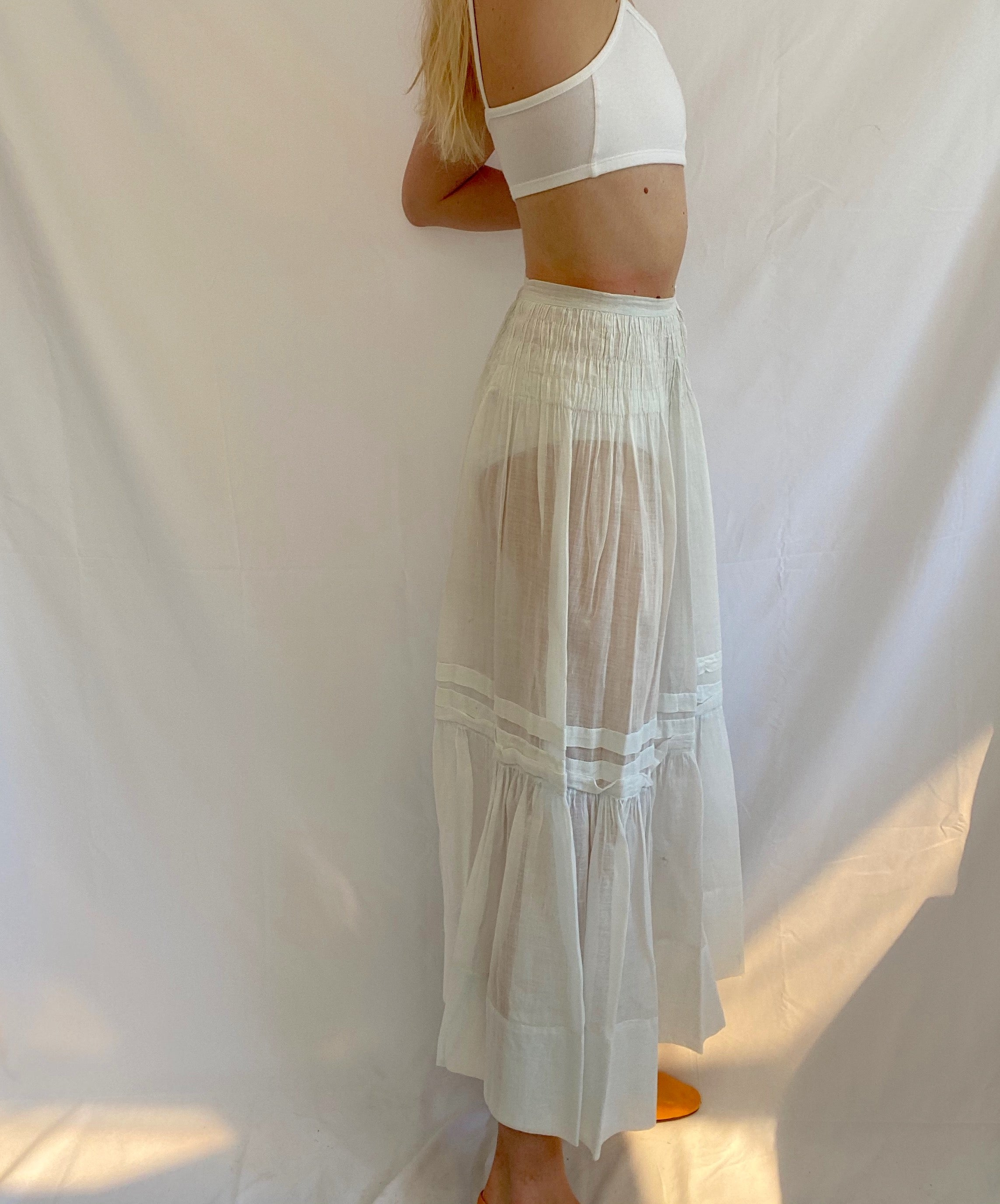 Pale Aqua Edwardian Skirt