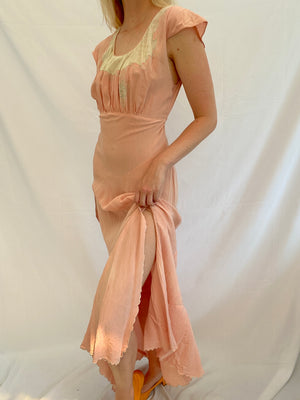 Dusty Pink Silk Dress