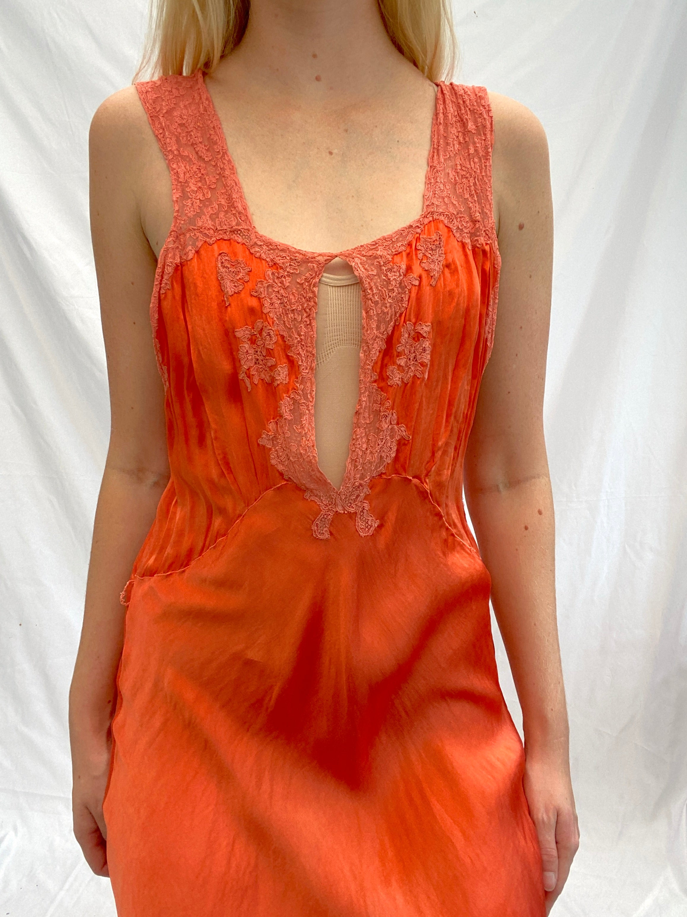 Hand Dyed Bright Autumn Orange Slip