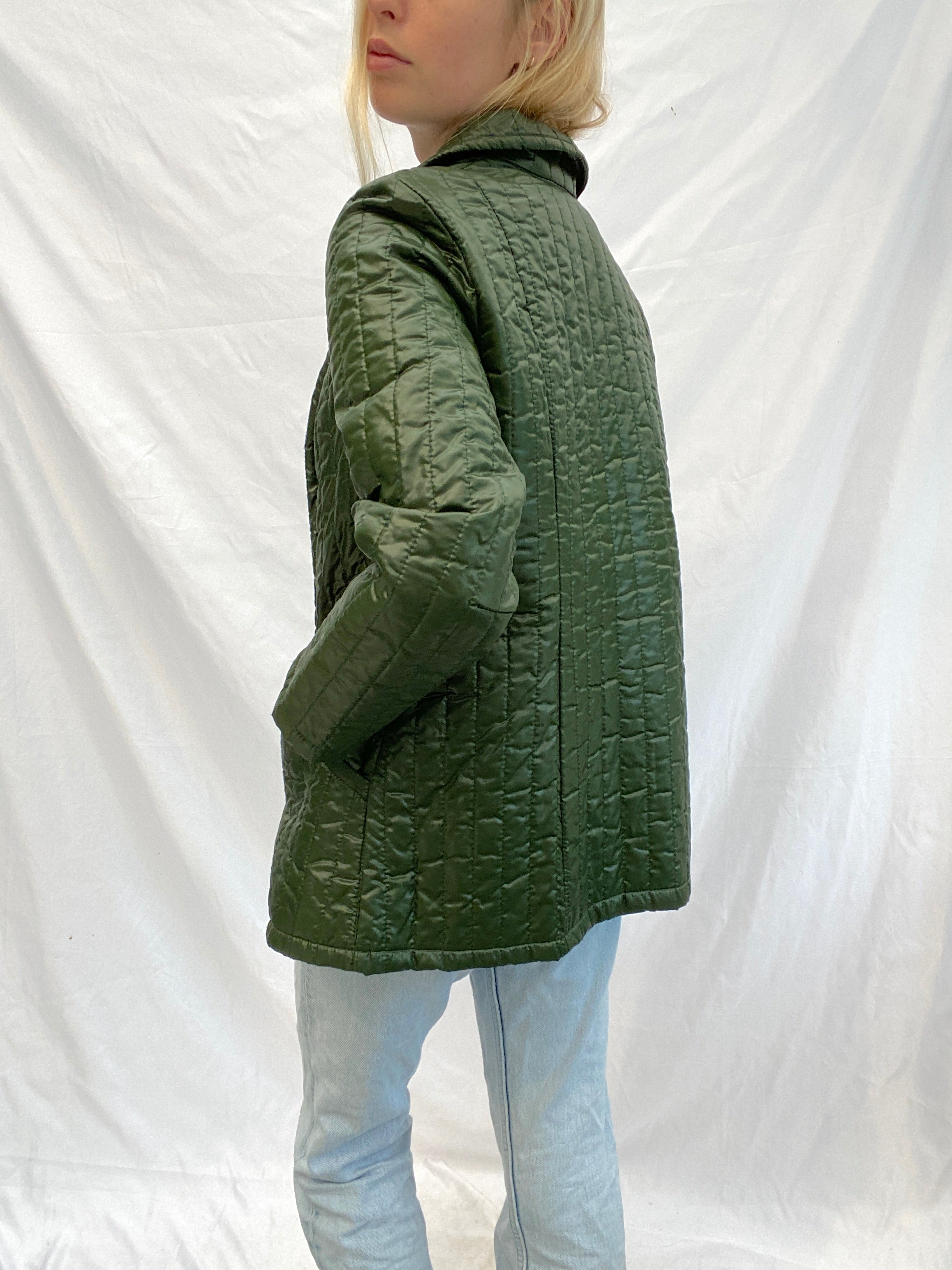 Hunter Green Quilted Jacket