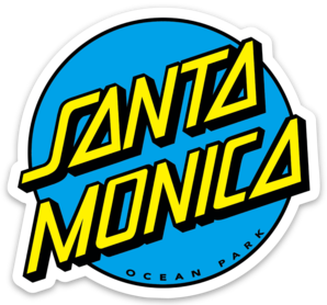 SANTA MONICA DOT STICKER