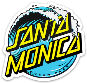 SANTA MONICA WAVE STICKER