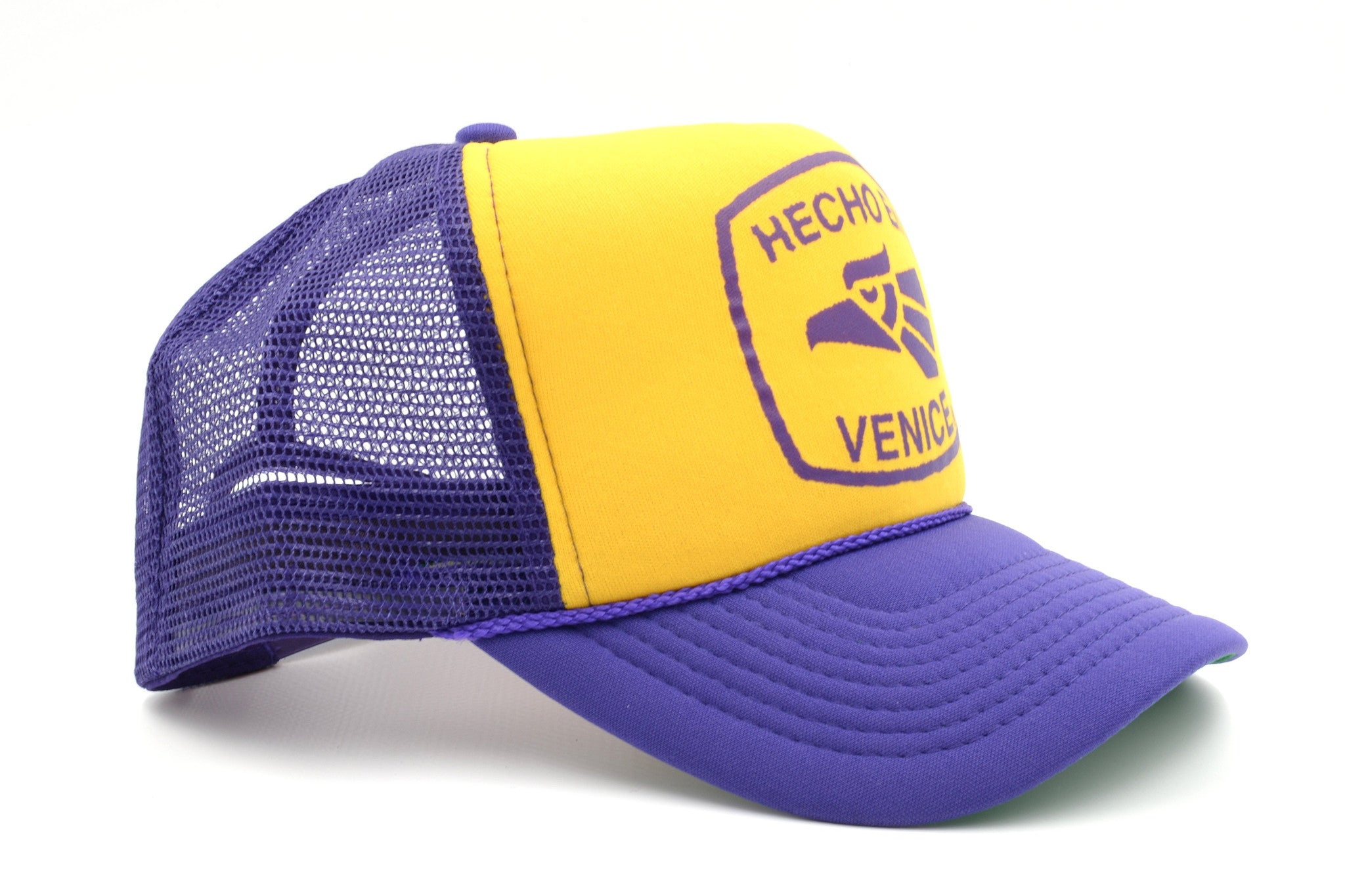 "HECHO EN VENICE TRUCKER HAT - ""LAKERS"" COLORS"