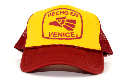 "HECHO EN VENICE  TRUCKER HAT - ""USC"" COLORS"