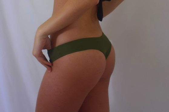 Kaley's Kini Bottom: Olive & Green