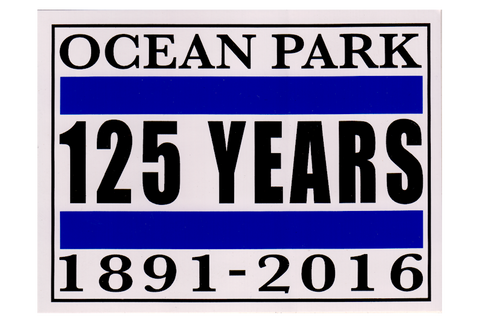 OCEAN PARK 125 YEARS STICKER