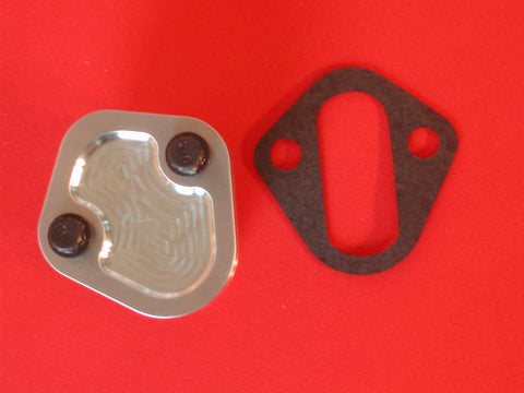 Mopar V-8 / Big Block Chevy fuel pump block off plate