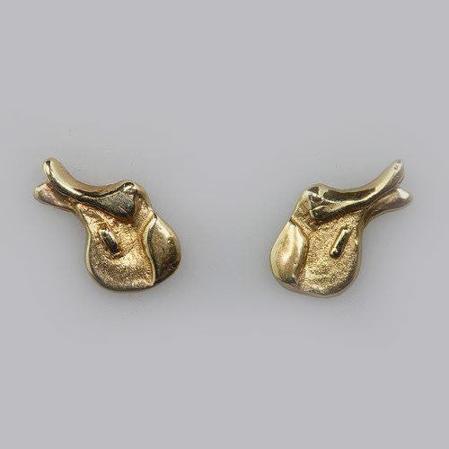 14k Gold or Sterling Hunter Jumper Saddle Post Earrings