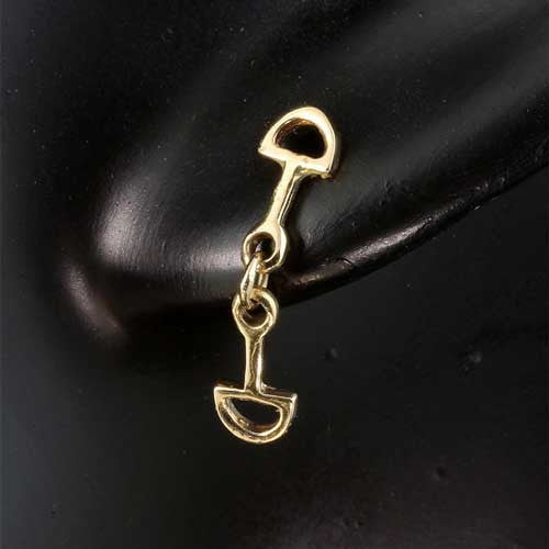 14k Gold Snaffle Bit Earrings