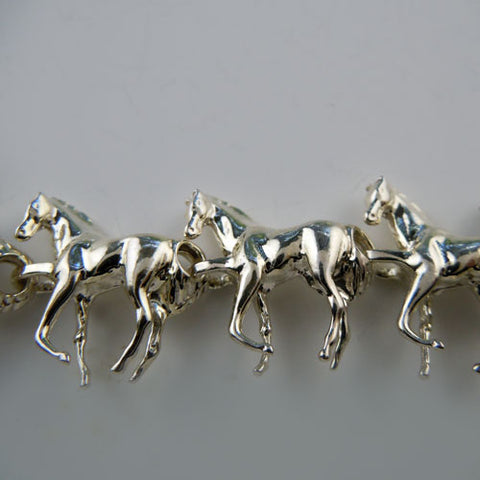Thirty-Three Horse Necklace Sterling Silver