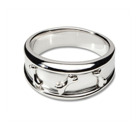 Dog Bone Ring Sterling Silver