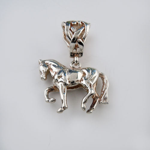 Elegant Dressage Horse Pendant Necklace