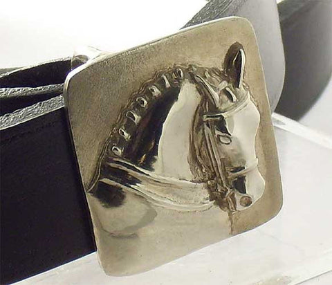 Dressage Horse Head Belt Buckle