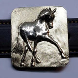 Dressage Half-Pass Belt Buckle