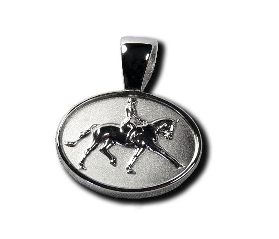 Dressage Horse and Rider Pendant Necklace